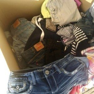 Lot of 50 piece clothing box lot